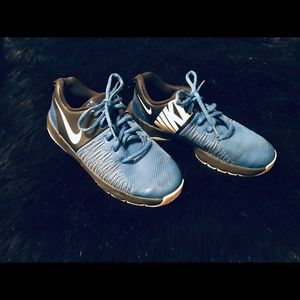 Nike Youth Hustle Quick Blue and Black Shoes